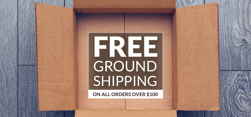 Onkyo now offers FREE shipping to all our customers on orders totaling $100 or more. Your new goodies will be on your doorstep before you know it!